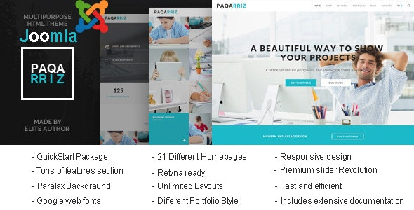Paqarriz - Multipurpose Joomla Template - Corporate Joomla