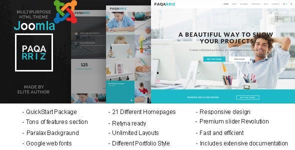 Paqarriz - Multipurpose Joomla Template