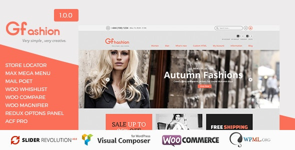 GFashion Woocommerce Store  - WooCommerce eCommerce