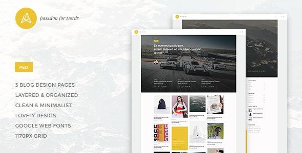 Artistry - Blog/Magazine PSD Theme - Photoshop UI Templates