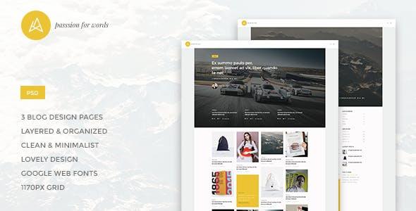 Artistry - Blog/Magazine PSD Theme