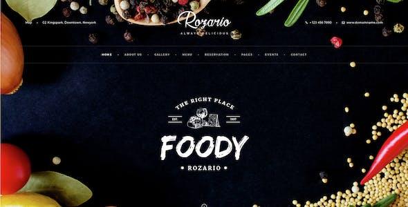 Rozario - Restaurant PSD Template