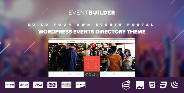 EventBuilder - WordPress Events Directory Theme - Directory & Listings Corporate