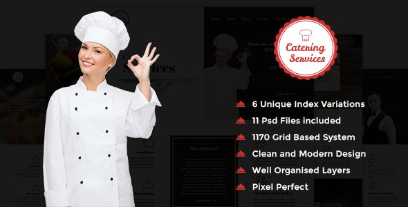 Catering Services - PSD Template - Food Retail