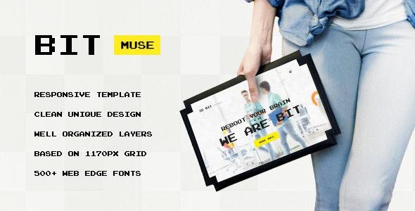 Bit — Original Digital Personal, Agency, Portfolio Muse Template - Creative Muse Templates