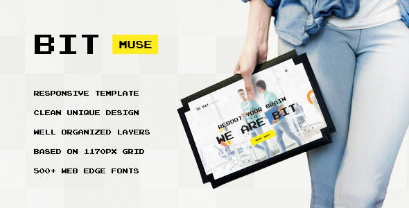 Bit — Original Digital Personal, Agency, Portfolio Muse Template