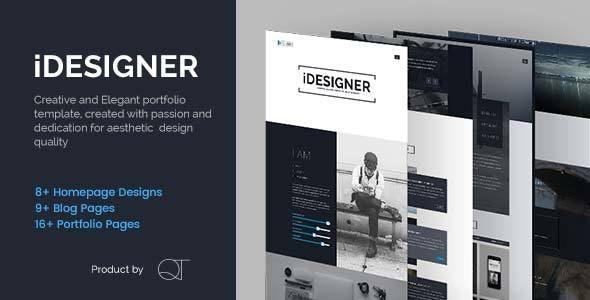 iDesigner - Elegant Creative Portfolio Template - Portfolio Creative