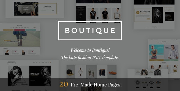 Boutique - Kute Fashion PSD Template - Retail Photoshop