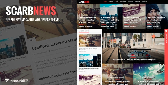 Scarbnews - News/Magazine WordPress Theme - Blog / Magazine WordPress