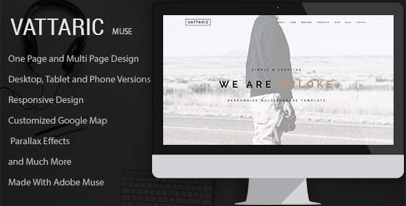 Vattaric - Multipurpose Muse Template - Creative Muse Templates