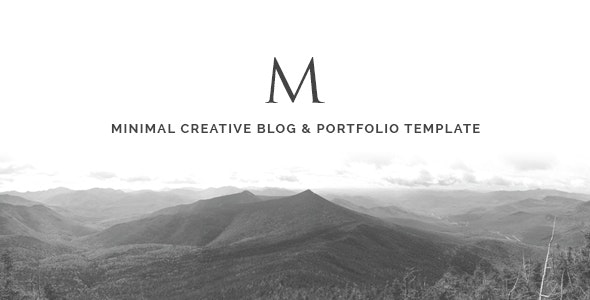 The M - Minimal Creative Blog & Portfolio Template - Portfolio Creative