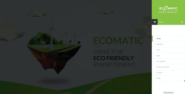 Ecomatic - PSD Template for Renewable Energy Businesses