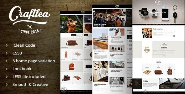 Craftlea - Vintage Handmade Store - Blog Template - Retail Site Templates
