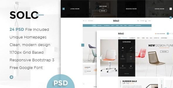 Solo - Multi-Purpose eCommerce PSD Template - Retail Photoshop