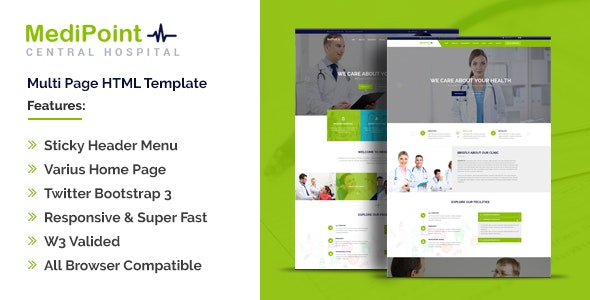 MediPoint | Responsive HTML5 Medical Template - Health & Beauty Retail