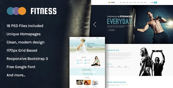 Fitness - Multipurpose PSD Template - Health & Beauty Retail