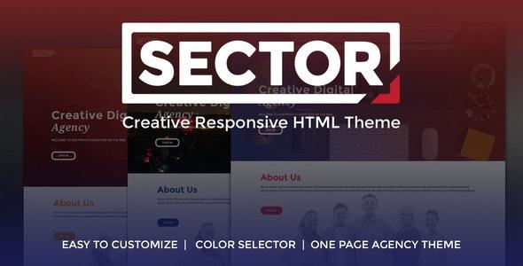 Sector - Creative Agency Portfolio Template - Portfolio Creative