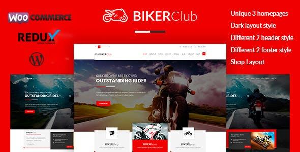 Biker Club - WordPress theme
