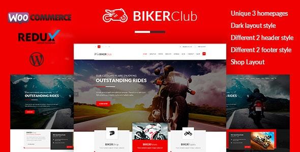 Biker Club - WordPress theme - Retail WordPress