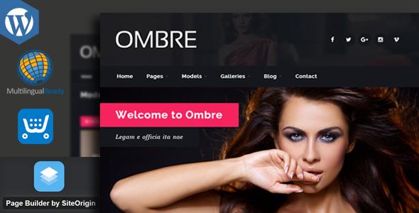 OMBRE - Model Agency Fashion WordPress Theme - Fashion Retail