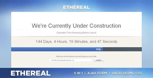 Ethereal - Under Construction XHTML/CSS - Under Construction Specialty Pages