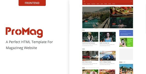 ProMag - Magazine Site Template - Miscellaneous Site Templates