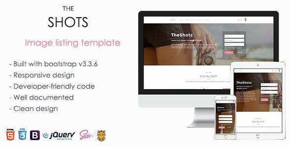 TheShots - Responsive Image Listing Template