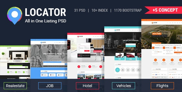 Locator All in One Listing PSD Template - Miscellaneous Photoshop