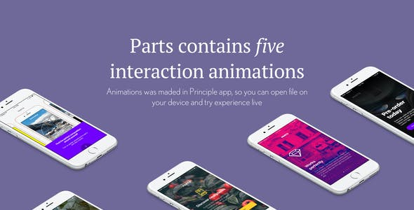 Parts UI — First Welcome Kit with Interaction Animations