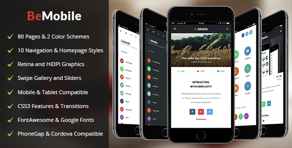 Be Mobile - Mobile Site Templates