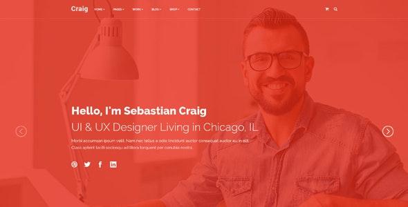 Craig - Creative Services | Portfolio | Personal Landing Page - Creative Landing Pages