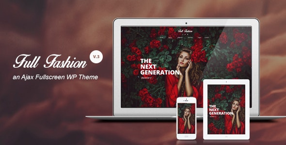 """Full Fashion"" - an Ajax Fullscreen WP Theme - Photography Creative"