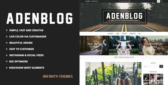 Aden - A WordPress Blog Theme - Personal Blog / Magazine