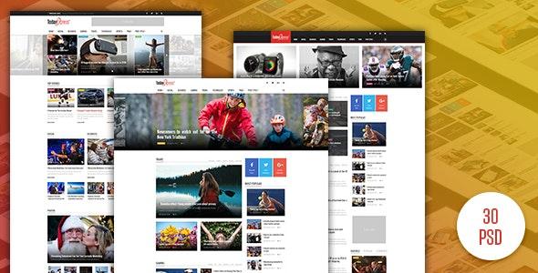 TodayExpress - News & Magazine PSD Template - Photoshop UI Templates
