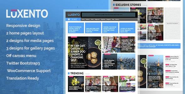 Luxento - Magazine WordPress theme - Blog / Magazine WordPress