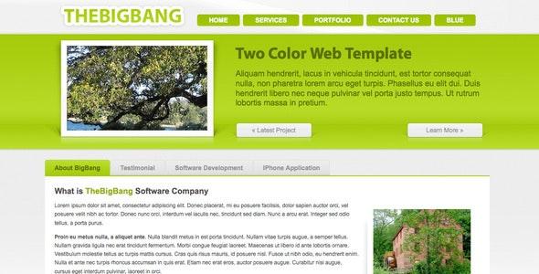 BigBang - Creative Company Template (2 Color) - Business Corporate