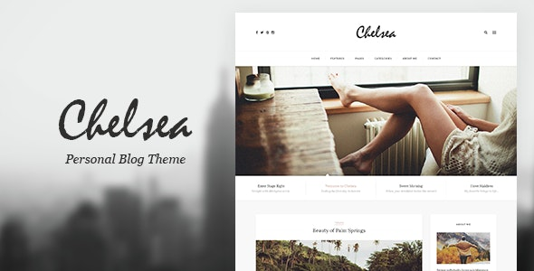 Chelsea - Personal Blog PSD Template for Travelers and Dreamers - Personal Photoshop