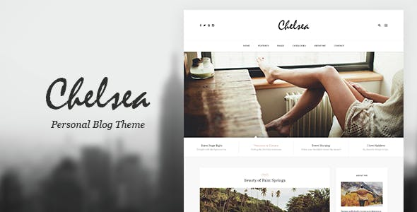 Chelsea - Personal Blog PSD Template for Travelers and Dreamers
