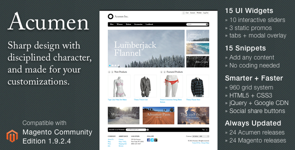 Acumen - The Highly Extensible Magento Theme - Fashion Magento