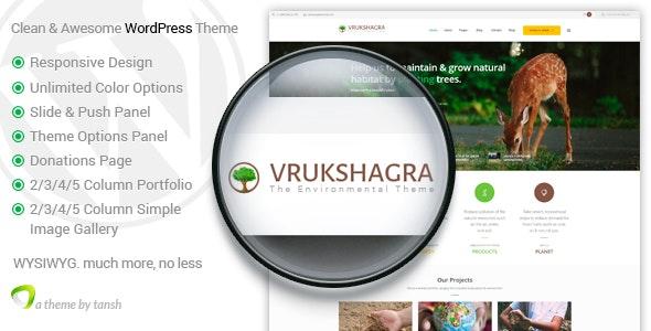 Vrukshagra - Environmental WordPress Theme - Environmental Nonprofit