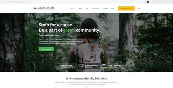 Vrukshagra - Environmental WordPress Theme