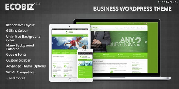 ECOBIZ -  Business WordPress Theme - Business Corporate