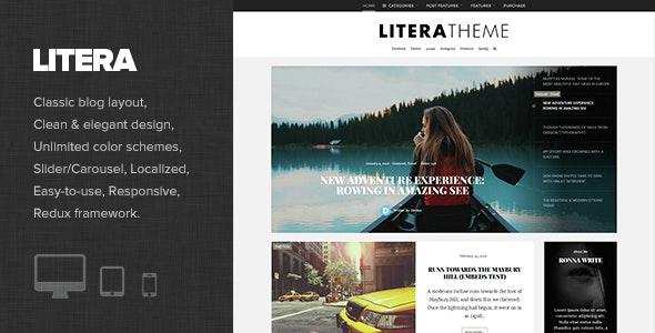 Litera - Elegant Personal Blog Theme - Personal Blog / Magazine