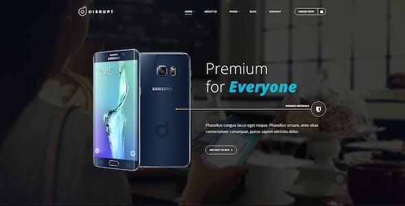 Disrupt - Single Product e-Commerce HTML Template