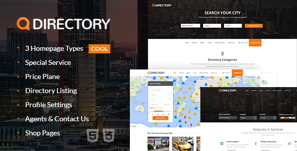 Directory Multi Purpose Html Template - Corporate Site Templates