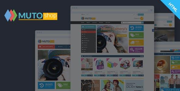 Muto - Electronics Fashion Shop HTML Template