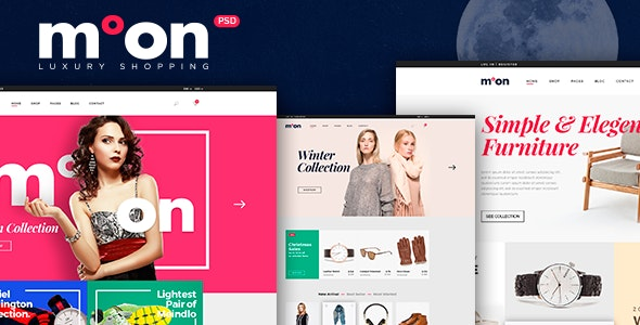 Moon - eCommerce PSD Template - Retail PSD Templates