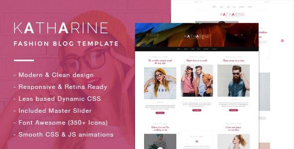 Katharine - Modern Fashion Blog Template - Fashion Retail