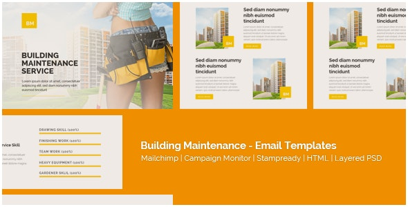 Corporate - Building Maintenance - Responsive Email Templates - Newsletters Email Templates