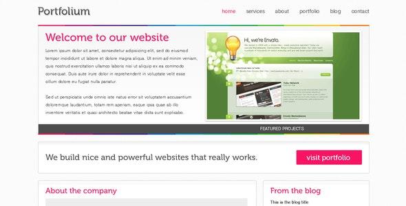 Portfolium - Full xHTML/CSS Template - Creative Site Templates